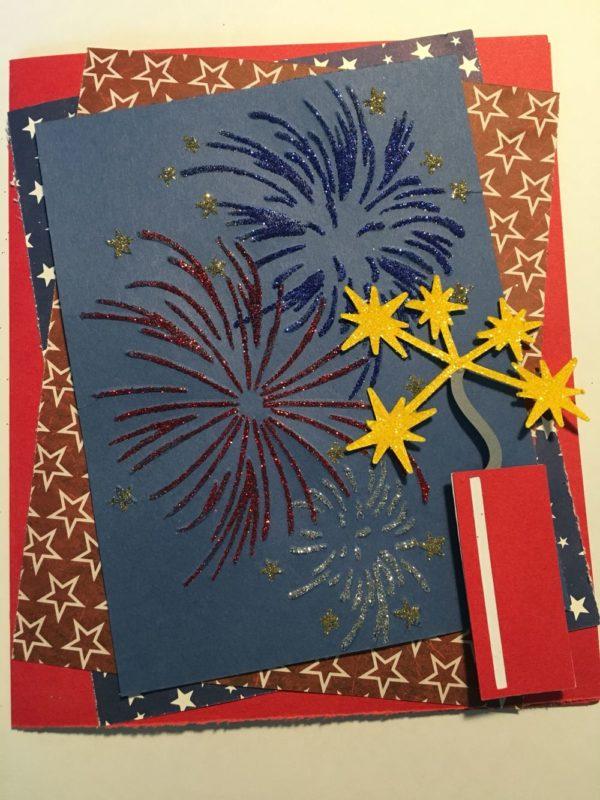 Les meilleures cartes faites à la main pour les feux d'artifice de la fête de l'indépendance des États-Unis