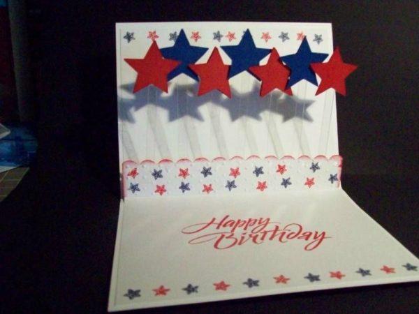 Meilleures cartes faites à la main pour la fête de l'indépendance des états-unis avec effet 3d
