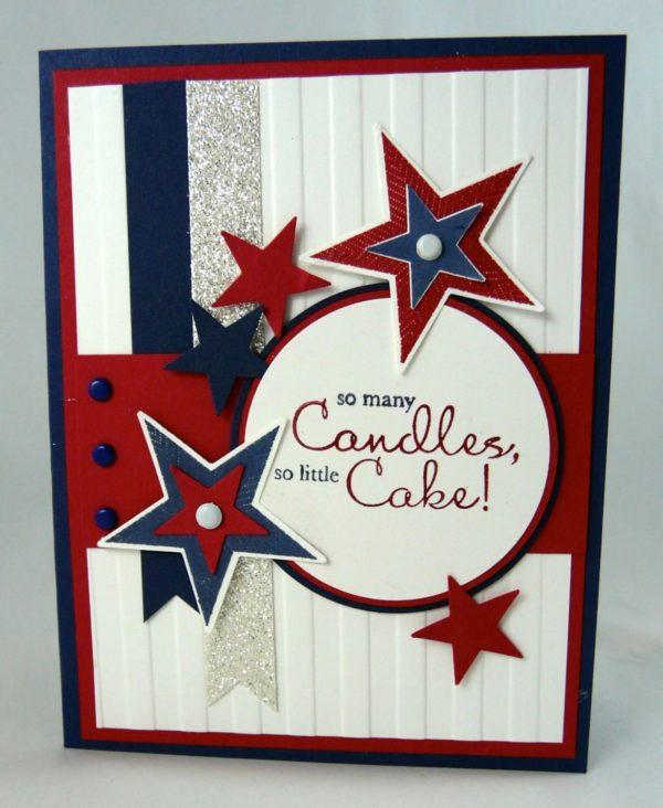Meilleures cartes faites à la main pour la fête de l'indépendance des États-Unis avec des étoiles