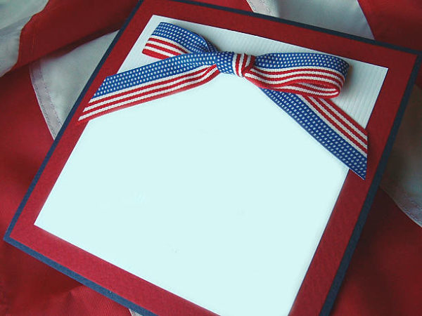 Les meilleures cartes faites à la main pour le jour de l'indépendance du tissu des États-Unis