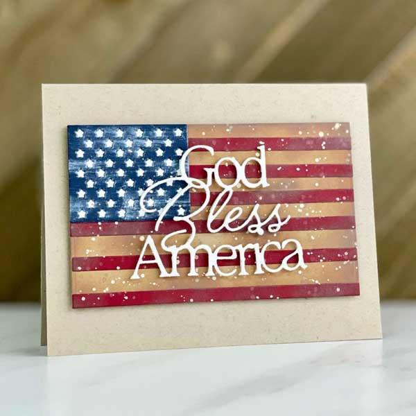 Meilleures cartes faites à la main pour la fête de l'indépendance des États-Unis que Dieu bénisse l'Amérique