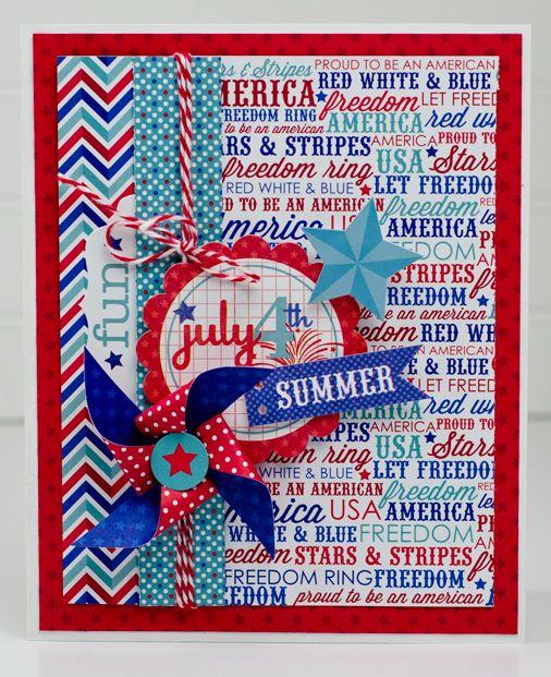 Meilleures cartes faites à la main pour la fête de l'indépendance des États-Unis avec lettrage