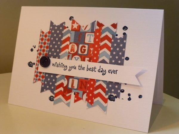Meilleures cartes faites à la main pour la fête de l'indépendance des États-Unis avec de grandes lettres
