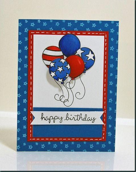 Meilleures cartes faites à la main pour la peinture de la fête de l'indépendance des États-Unis