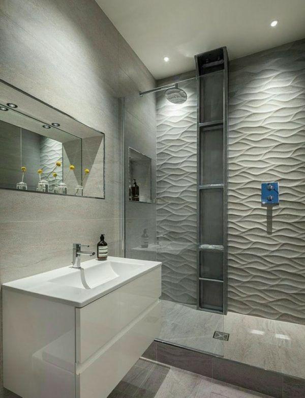 10 petites rénovations de salle de bain pour vous inspirer 2021 2022 murs gris salle de bain