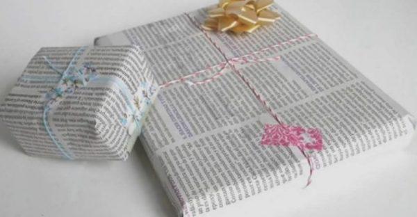 Idées d'artisanat d'emballage de cadeau de journal
