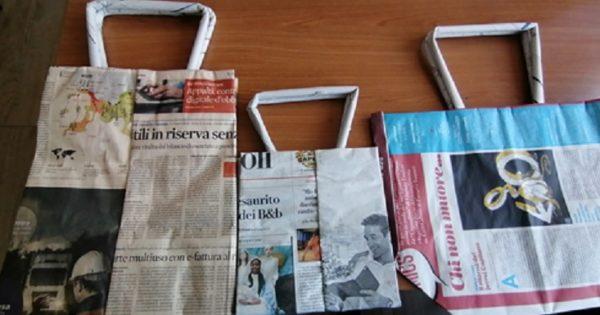 Idées de bricolage avec des sacs en papier journal