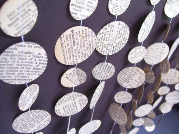 Idées d'artisanat de guirlande de journal