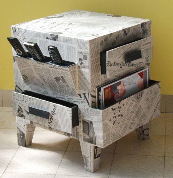 artisanat-avec-meubles-en-papier-journaux