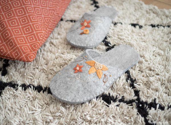 Bricolage avec de la feutrine à fabriquer soi-même PHOTOS chaussons
