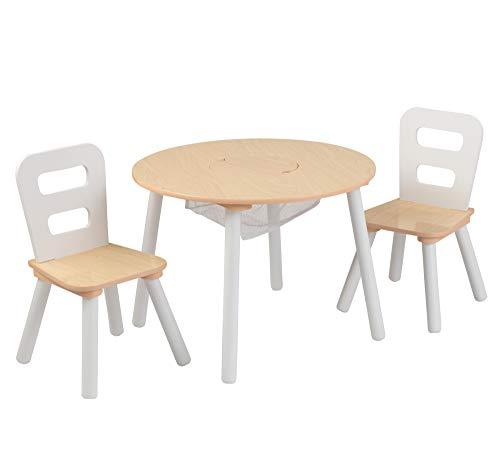 KidKraft 27027 Ensemble de table ronde et 2 chaises en bois pour enfants, meubles pour salles de jeux et ...