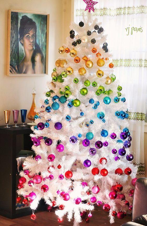 Tendances de la décoration de Noël moderne et colorée