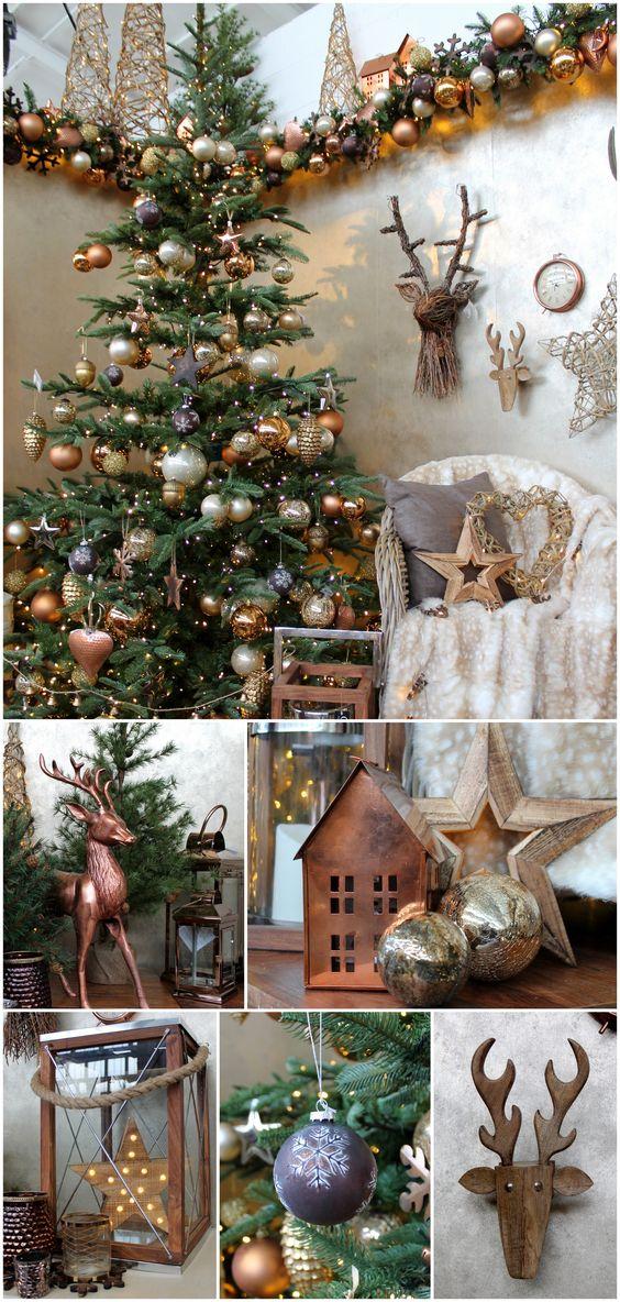 Décoration de Noël en or