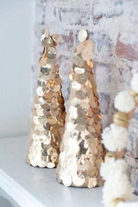 Décorations de Noël couleur or