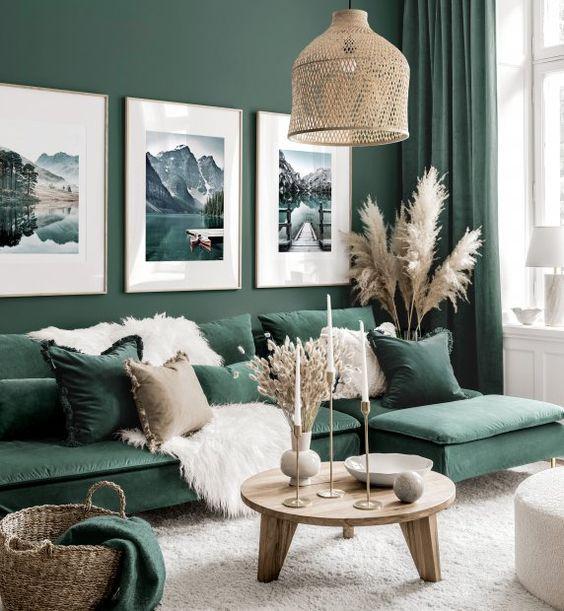 Murs vert émeraude