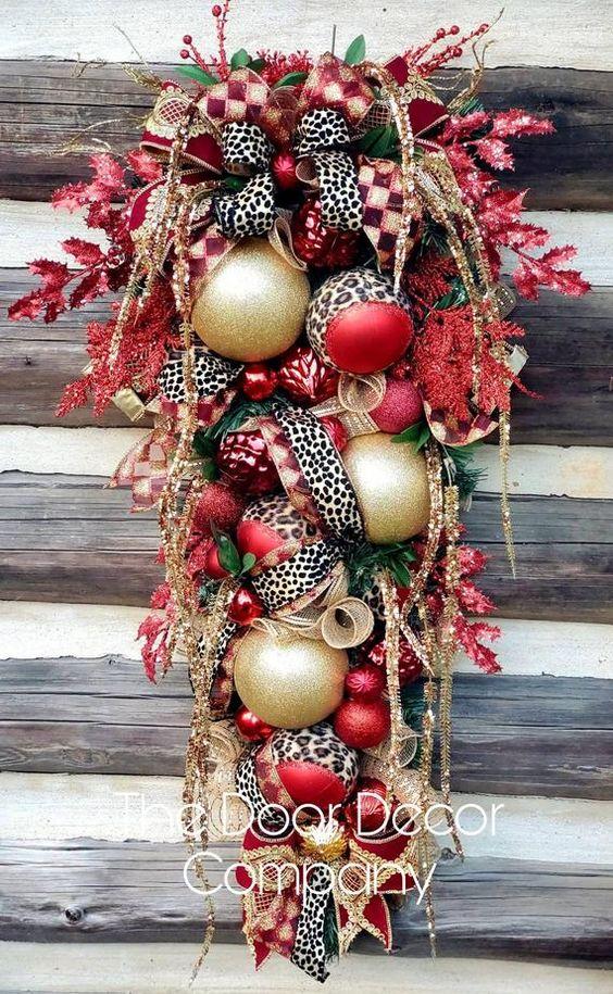 Accroche-portes de Noël effet neige