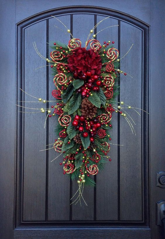 Options de suspension de porte de Noël rustique