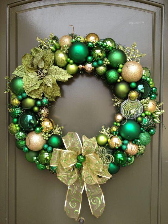 Couronnes de Noël vertes