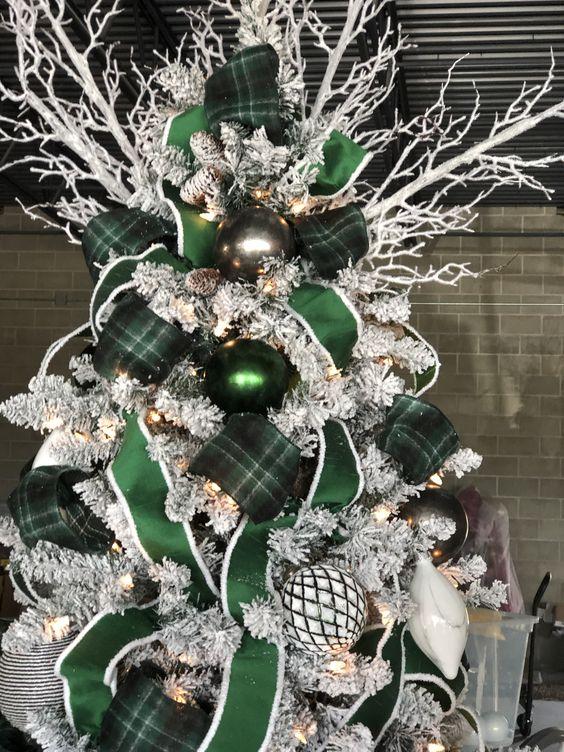 Décorations de Noël vertes