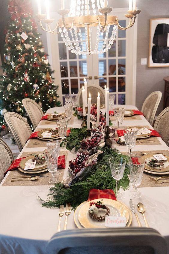 Décorations de Noël pour la salle à manger