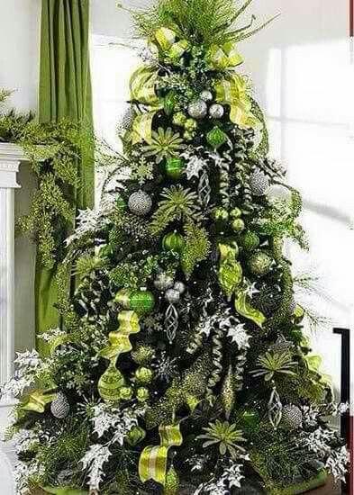 Décoration de Noël verte
