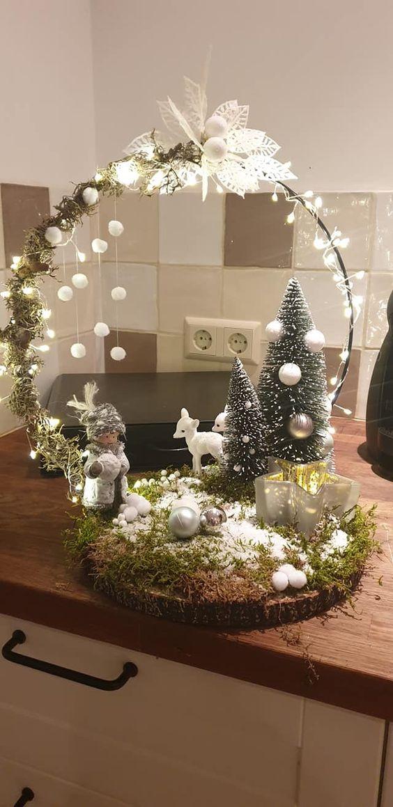 Des idées de décoration de Noël plus naturelles
