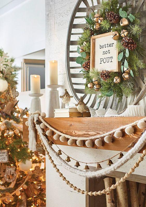 Contrastes dans les décorations de Noël