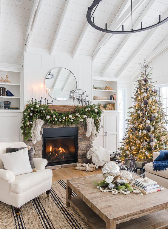 Décoration de Noël rustique