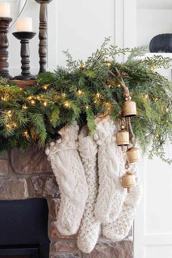 Lumière dans la décoration de Noël