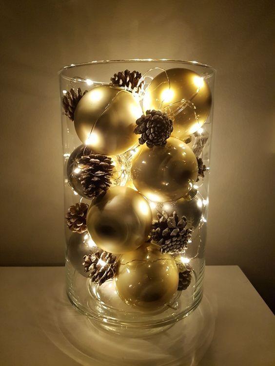 Idées de centre de table de Noël