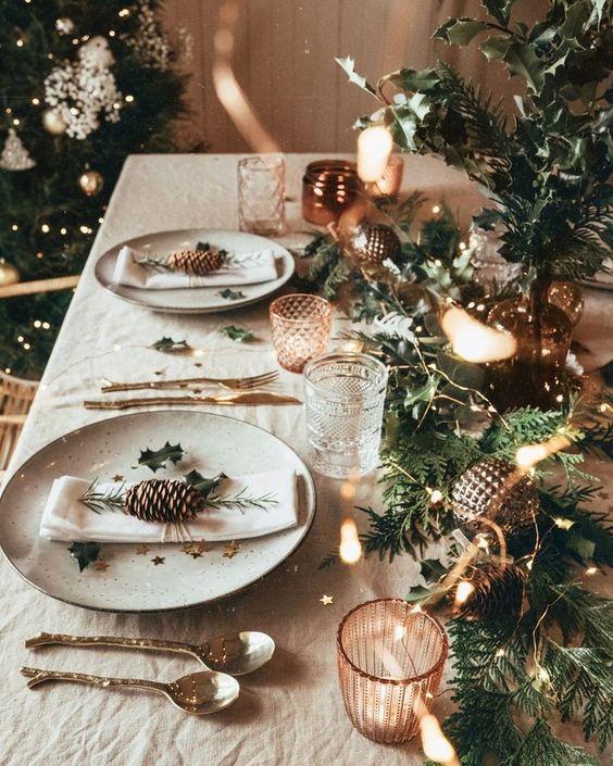 Des idées pour décorer la salle à manger à Noël