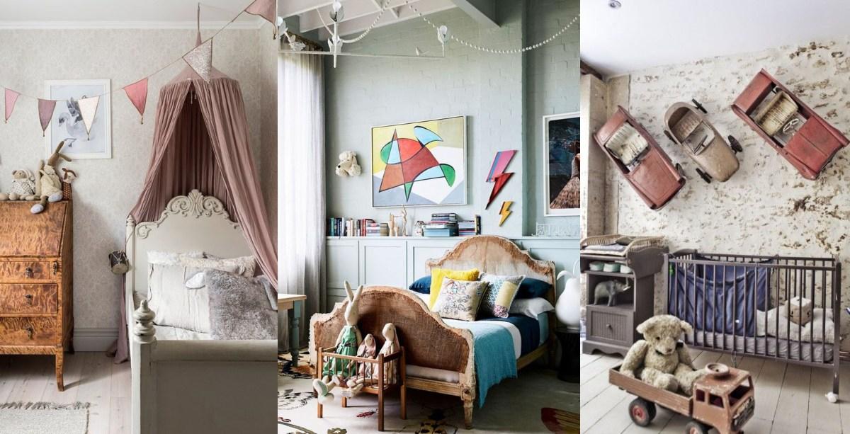 Des idées pour décorer une chambre d'enfant vintage
